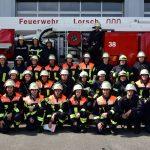 Die Feuerwehrmänner und -frauen in Ausbildung beim 200. Grundlehrgang 2016